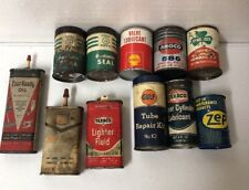11 VTG Oil Related Advertising Cans Shell Cities Service Zep Gulf Texaco Amoco