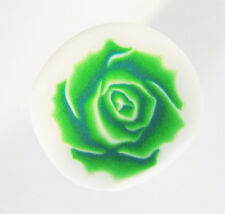 Fimo polymer clay millefiori green rose cane nail art  by orly kliger