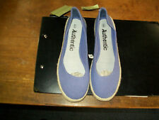 Womens Canvas Ballets Light Purple Size 6 with Rope Platform