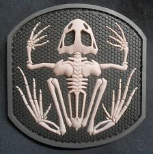 SKELETON FROG NAVY SEAL 3D PVC BADGE MILITARY SWAT VELCRO® BRAND FASTENER PATCH