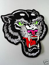 EMBROIDERED BIKER MOTORCYCLE BACK JACKET PANTHER PATCH