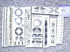 Set of 50+ Temporary Tattoos / Body Art - Various Themes (T1)