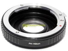 Adapter per montare obiettivi Pentax K su corpi Nikon, a pellicola e digitali.