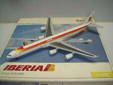 """Herpa Wings 400 Iberia IB A340-600 """"1990s color - Gaudi"""" 1:400"""