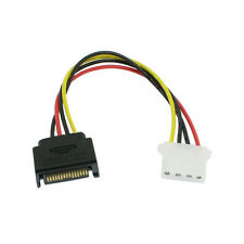 Lot of 5x Pack Serial ATA SATA To IDE/Molex 4 PIN Reverse Power Adapter Cable