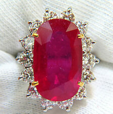 17.90CT HUGE  ENHANCED RUBY DIAMOND RING 14KT DIANA DECO+