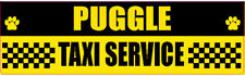 Puggle Taxi Service Dog Transport Sticker