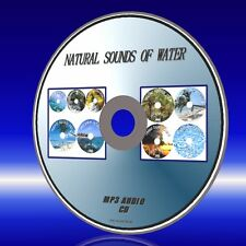 RELAX TO SOUNDS OF 9 WATER MP3 TRACKS SEA BROOK WATERFALLS THUNDERSTORMS CD NEW