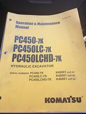 PC450, LC, LCHD Operation Maintenance Manual Komatsu
