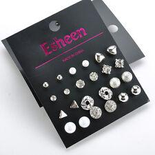 Lots Set of 12 Pairs Mix Design Women Girls Ear Stud Studs Earrings Jewelry