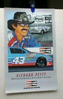 VINTAGE NASCAR RICHARD PETTY CHAMPION SPARK PLUG POSTER 12 X 20 1992