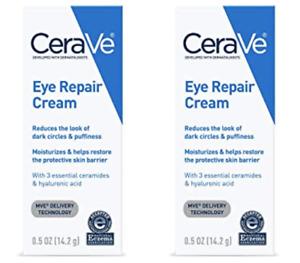 Lot of 2 CeraVe Eye Repair Cream 0.5 oz. Each