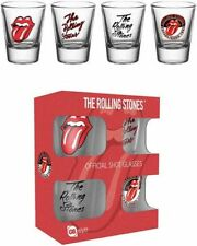 Rolling Stones - 4 Shot glasses -  NEW IN BOX