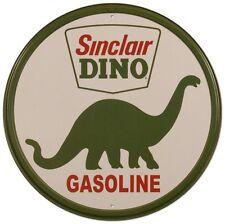 Sinclair Round gAs OiL Distress Retro Vintage Metal New Tin Sign Man Cave Garage