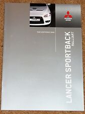 2009 Mitsubishi Lancer Sportback 2.0 Ralliart folleto de ventas-Perfecto Estado