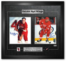 CANADA POST NICKLAS LIDSTROM AND RED KELLY AUTOGRAPH FRAMED PICTURE