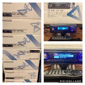 Old School Car Audio! NOS Kenwood Kdc-mp735u,sq,eq,3xpreouts,usb, Dolphins! NIB!