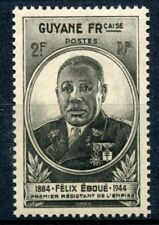 STAMP / TIMBRES COLONIES FRANCAISES NEUF GUYANE GOUVERNEUR EBOUE N° 180 **