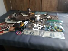 Junk Your Lot Silver Dollars Marbles Jewelry Plates Figurines Matchbox