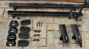 Thule WingBar Evo Black Roof Bars Set for VW Amarok Double Cab 11-20 Fixed Point