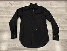 DSQUARED2 Chic STEVE Men's Black Long Sleeve Button-Down Shirt Sz 48/M Italy