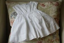 Baby Dior Vestido de algodón blanco 6 meses