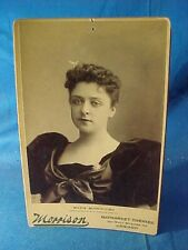 19thc THEATER Stage ACTRESS MARIE BURROUGHS Orig CABINET CARD PHOTO