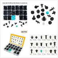 360 Pcs Mixed Plastic Car Fenders Trunk Roof Liner Panel Fastener Retainer Clips