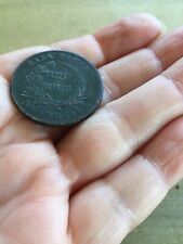 19th c. Canadian Un Sous Montreal Copper Bank Token Trade & Agriculture Canada