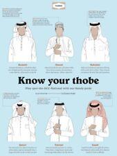 Thobe Desert Dress Offical Orignal White Mens Boys Long Costume Arabic New 56-62