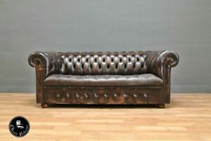 Chesterfield Clubsofa Couch Englische Vintage Sofa Leder Antik