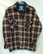 Outdoor Exchange Cold Weather Insulated Mens Flannel Plaid Shirt Sz Medium Tall