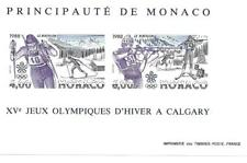 MONACO 1988 BLOC FEUILLET BF N° 40a XV JEUX OLYMPIQUES D'HIVER A CALGARY