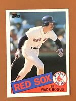 1985 Topps Wade Boggs Card #350 EX - Red Sox HOF