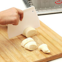 White Trapezoidal Pastry Dough Scraper Cutter Plastic Baking Cake Kitchen Tool