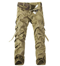 NEW ARMY CARGO CAMO COMBAT MILITARY MENS TROUSERS CAMOUFLAGE PANTS CASUAL  28-40