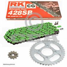 Kettensatz Kawasaki KMX 200 88-90 Kette RK CG 428 SB 126 offen GRÜN 16/50