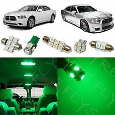 11x Green LED lights interior package kit for 2011-2015 Dodge Charger DC1G