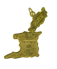HOT Trinidad and Tobago Caribbean Island Map 24K Gold Plated Travel souvenir Cha