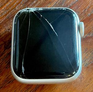 Apple Watch Series 6 40 mm Stainless Steel GPS - CRACKED SCREEN, AS-IS