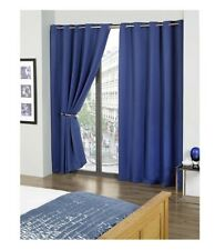 """Eco Thermal Blackout Curtains 90""""x 54""""  Blue Lined Cali"""