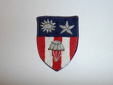 b5585 WW2 US Army CBI China Burma India Airborne Parachute patch bullion R4C