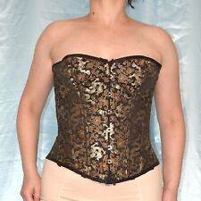 Victorian Corset with Gold Embroidery S 34-36 Full-Breast Strapless