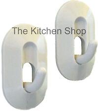 Magnetic Hooks  Holder 2 Pack Kitchen Towel Pot Holder Refrigerator Hook White