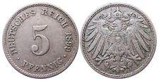 J 12   5 Pfennig KAISERREICH 1899 J in SS  502906