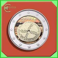 """2 Euro € Gedenkmünze Coin Litauen 2016 """" Baltische Kultur """" coloriert"""