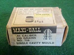 Vintage MAXI-BALL .45 Caliber Single Cavity Mould Thompson/Center Arms #728