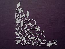 Flower Corner Flourish Paper Die Cuts x 8 Scrapbooking Card Topper Embellishment