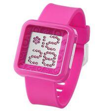 ZERONE Dazzled Pink Swarovski Crystal Digital Watch
