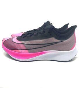 Nike Zoom Fly 3 Pink Blast Black Grey VaporWeave Mens Running Shoes AT8240-600